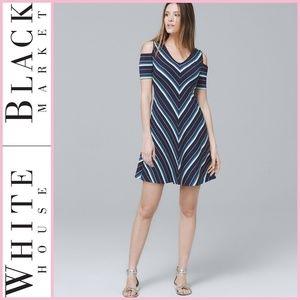NWT Cold-Shoulder Knit Trapeze Dress